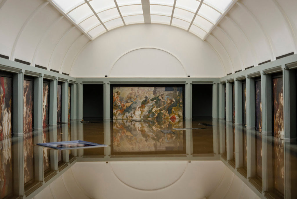 Tezi Gabunia, Breaking News The Flooding of the Louvre (2018–20). Photo courtesy of Galerie Kornfeld, Berlin.