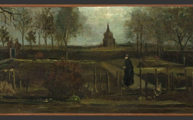 Vincent van Gogh, Lentetuin de pastorietuin te Nuenen in het voorjaar_Groninger Museum