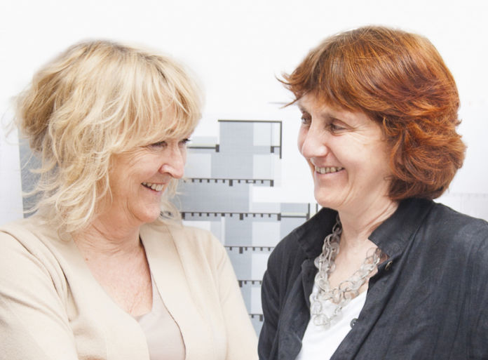Yvonne Farrell and Shelley McNamara, photo courtesy of Alice Clancy - detail