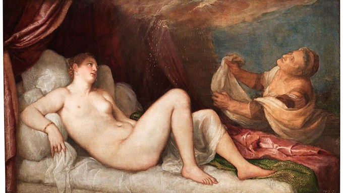 Detail from Titian, 'Danaë', probably 1554–6. Wellington Collection, Apsley House © Stratfield Saye Preservation Trust