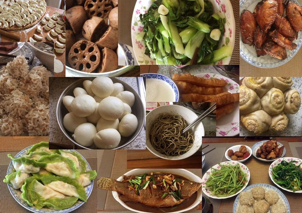 图 I piatti sani della madre di Feng Chen preparati durante la quarantena