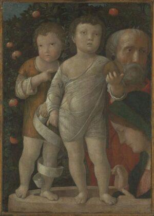 Andrea Mantegna, Sacra Famiglia con San Giovannino, 1500 ca. The National Gallery, Londra