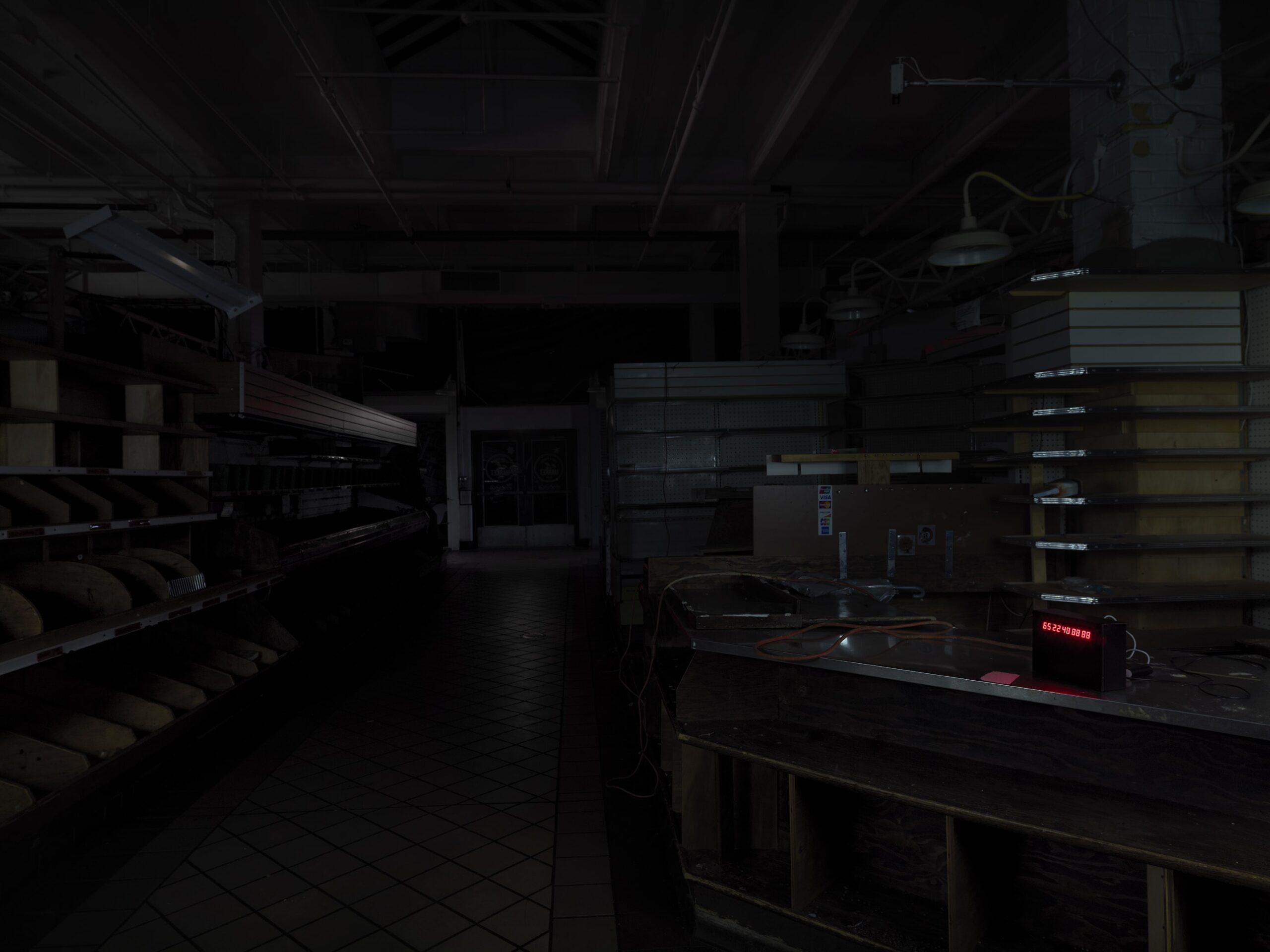 Andrea Nacciarriti, 00 00 00 00 00 [Essex Street Retail Market], 2019, Visione dell'Installazione. Foto, Dario Lasagni