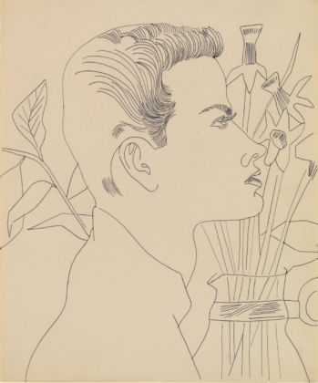 Andy Warhol (1928 – 1987) Boy with Flowers 1955-7 ARTIST ROOMS Tate and National Galleries of Scotland © 2020 The Andy Warhol Foundation for the Visual Arts, Inc. / Licensed by DACS, London.