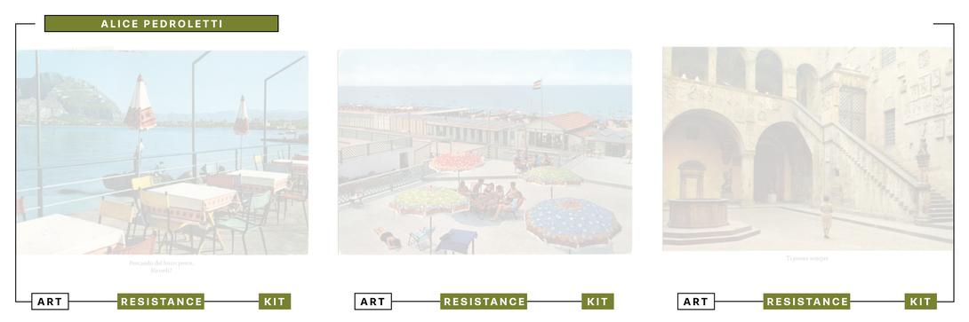 Art Resistance Kit, Copertina Alice Pedroletti