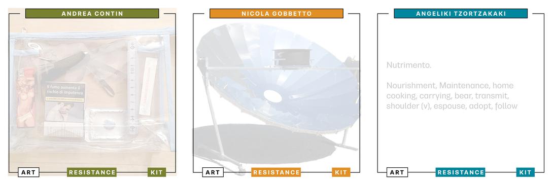 Art Resistance Kit Copertina Andrea Contin, Nicola Gobbetto, Tzortzakaki Angeliki