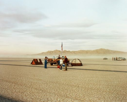 "Richard Misrach Waiting, Edwards Air Force Base, California, 1983 chromogenic print mounted to board 18-1/2"" × 23-1/4"" (47 cm × 59.1 cm), image 20"" × 24"" (50.8 cm × 61 cm),paper and mount Edition 2 of 25 Edition of 25 (in this format) © Richard Misrach, courtesy Pace Gallery"