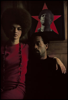 "Gordon Parks Eldridge Cleaver and His Wife, Kathleen, Algiers, Algeria, 1970 archival pigment print 30"" × 24"" (76.2 cm × 61 cm), paper Edition 2 of 7 Edition of 7 © The Gordon Parks Foundation"