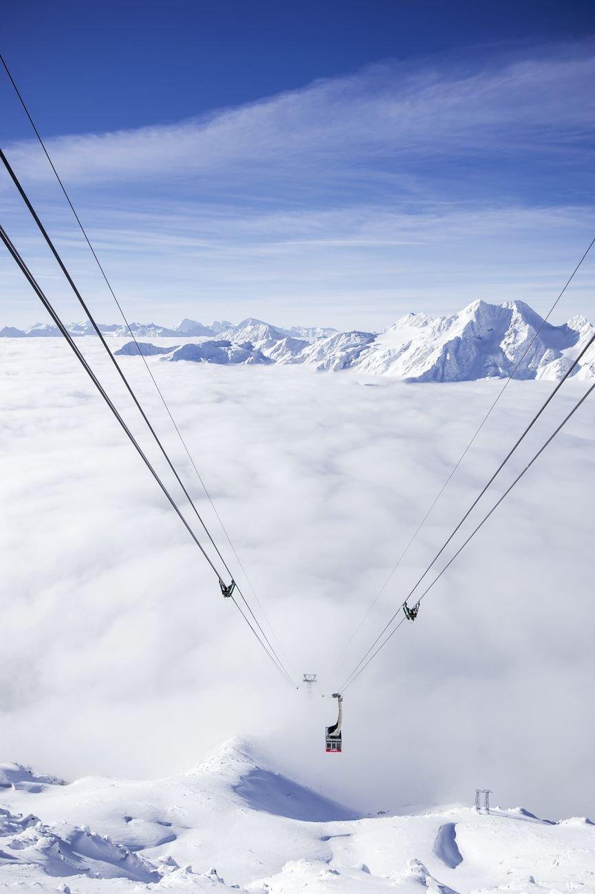 Funivia del ghiacciaio in Val Senales. Photo Alex Filz