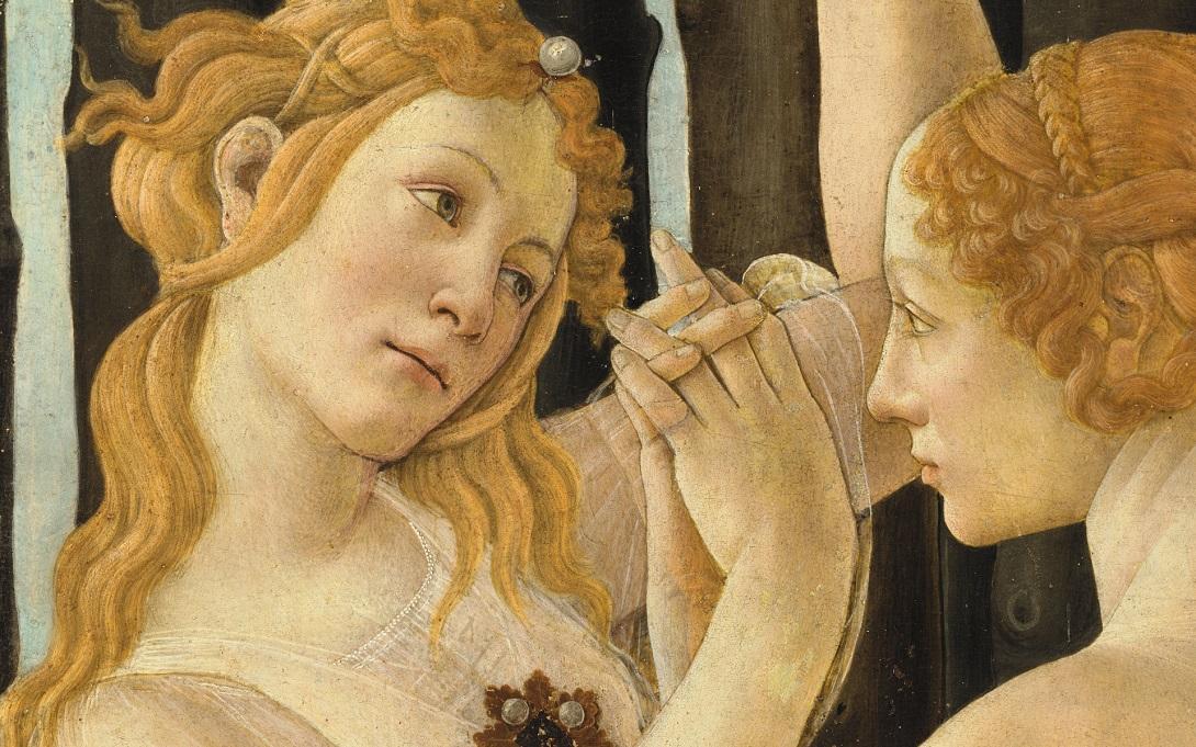 La Primavera di Botticelli (dettaglio) courtesy Haltadefinizione