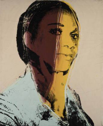 Andy Warhol (1928 – 1987) Ladies and Gentlemen (Alphanso Panell) 1975 Acrylic paint and silkscreen ink on canvas 813 x 660 mm Italian private collection © 2020 The Andy Warhol Foundation for the Visual Arts, Inc. / Licensed by DACS, London