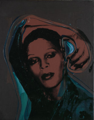 Andy Warhol (1928 – 1987) Ladies and Gentlemen (Iris) 1975 Acrylic paint and silkscreen ink on canvas 356 x 279 mm Italian private collection © 2020 The Andy Warhol Foundation for the Visual Arts, Inc. / Licensed by DACS, London.
