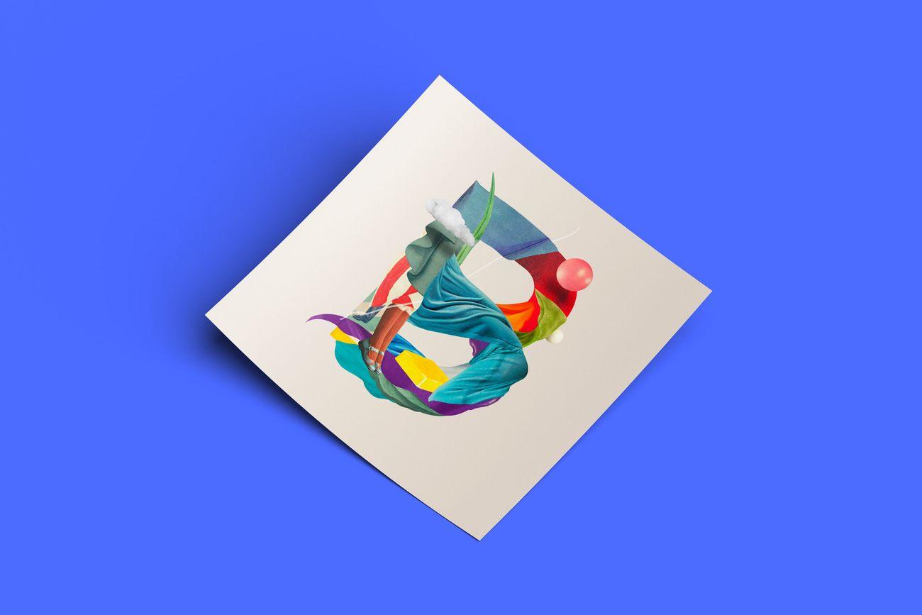 Lettera B di Nazario Graziano, illustrazione per il progetto Lettera40