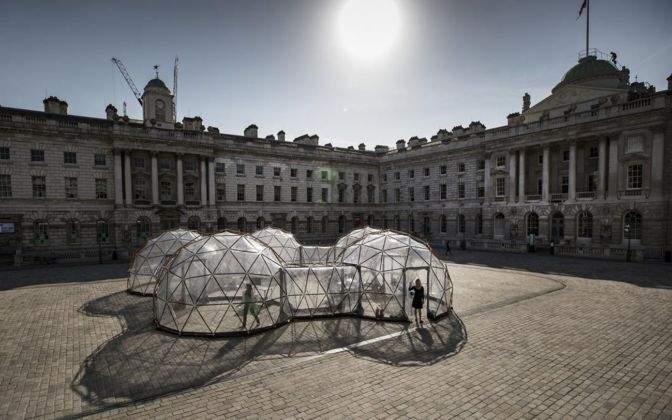 Michael Pinsky, Pollution Pods, 2018. Somerset House for Earth Day 2018 © Peter Macdiarmid for Somerset House