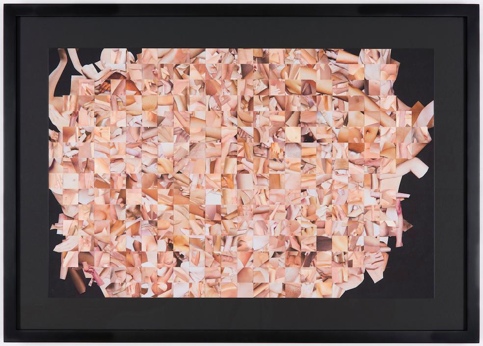 Monica Bonvicini, Legscutout #3, 2014, collage, cut out paper, pigment print on Hahnemühle Photo Rag, 61 x 90 cm. Courtesy l'artista