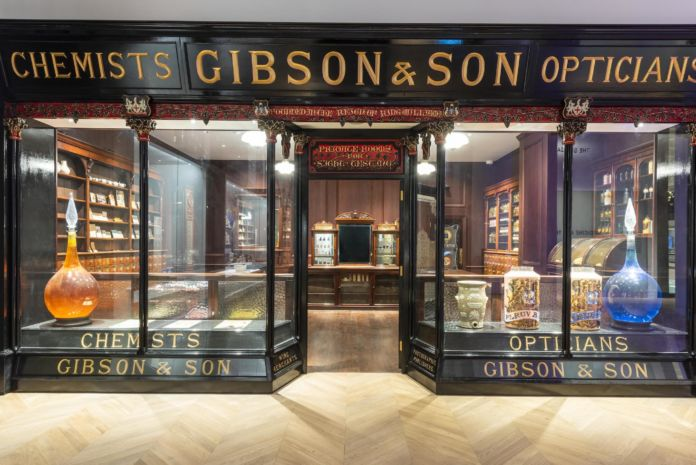 Mr Gibson's Pharmacy in the Medicine and Treatments gallery © Science Museum Group