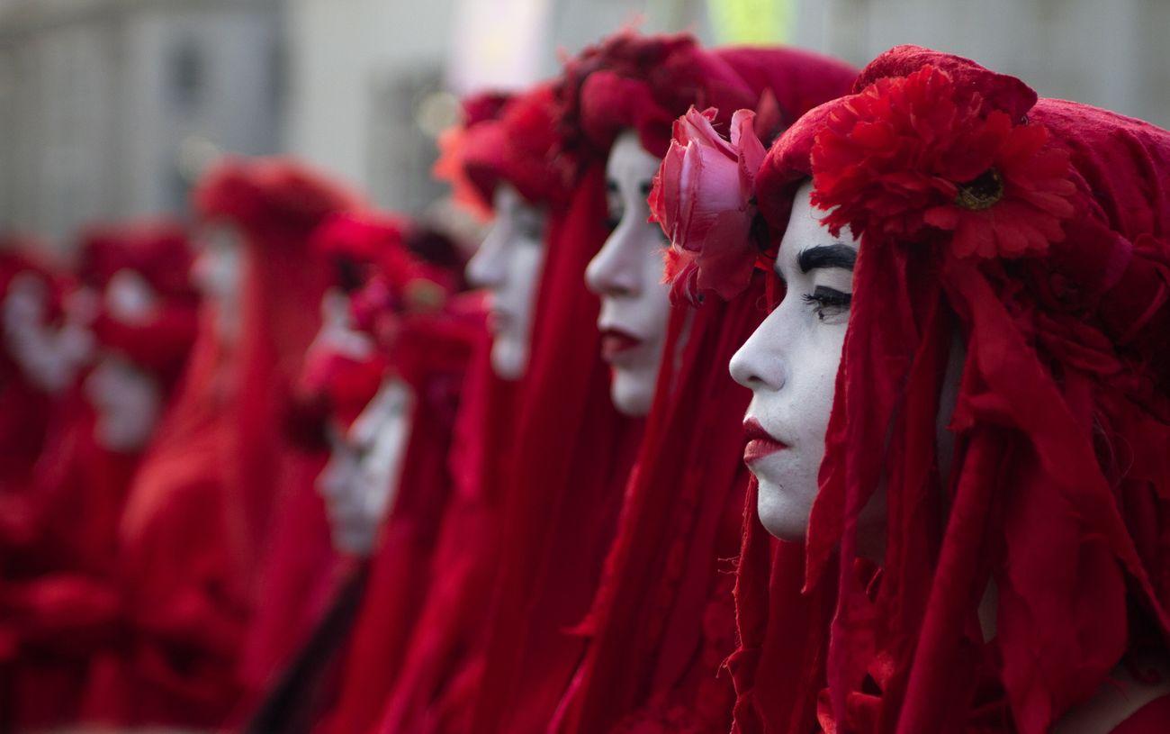 Red Rebel Brigade. Photo Dylan Logan