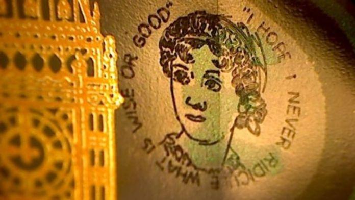 Una delle banconote incise da Graham Short