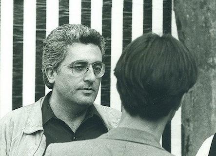 Germano Celant e, di spalle, Giulio Paolini. Genazzano, 1983