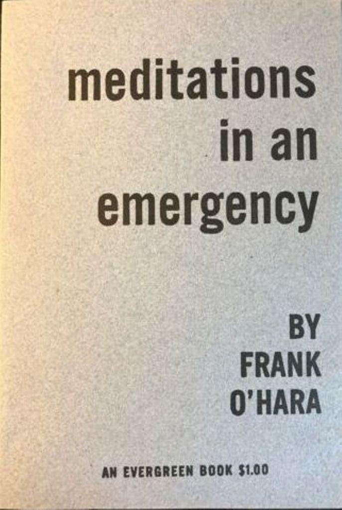 La prima edizione dell'antologia di O'Hara, 1954