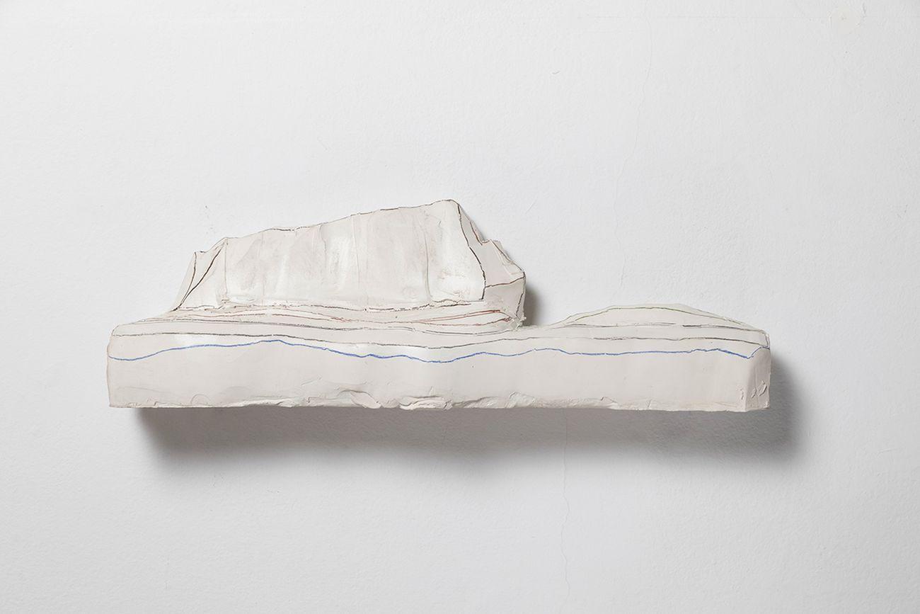 Amedeo Martegani,Scogliera, 2002, ceramica. PhotoRoberto Marossi