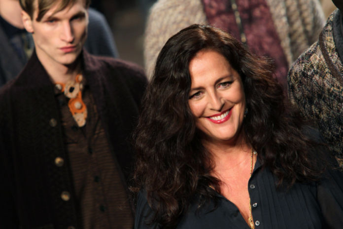 Angela Missoni walks the runway during the Missoni fashion show as part of Milan Fashion Week Menswear Autumn/Winter 2012 on January 15, 2012 in Milan, Italy. (Photo by Antonio de Moraes Barros Filho/WireImage)