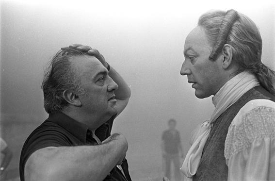BELLOMO, Franco Federico Fellini e Donald Sutherland sul set di 'Casanova', CinecittÖ 1976