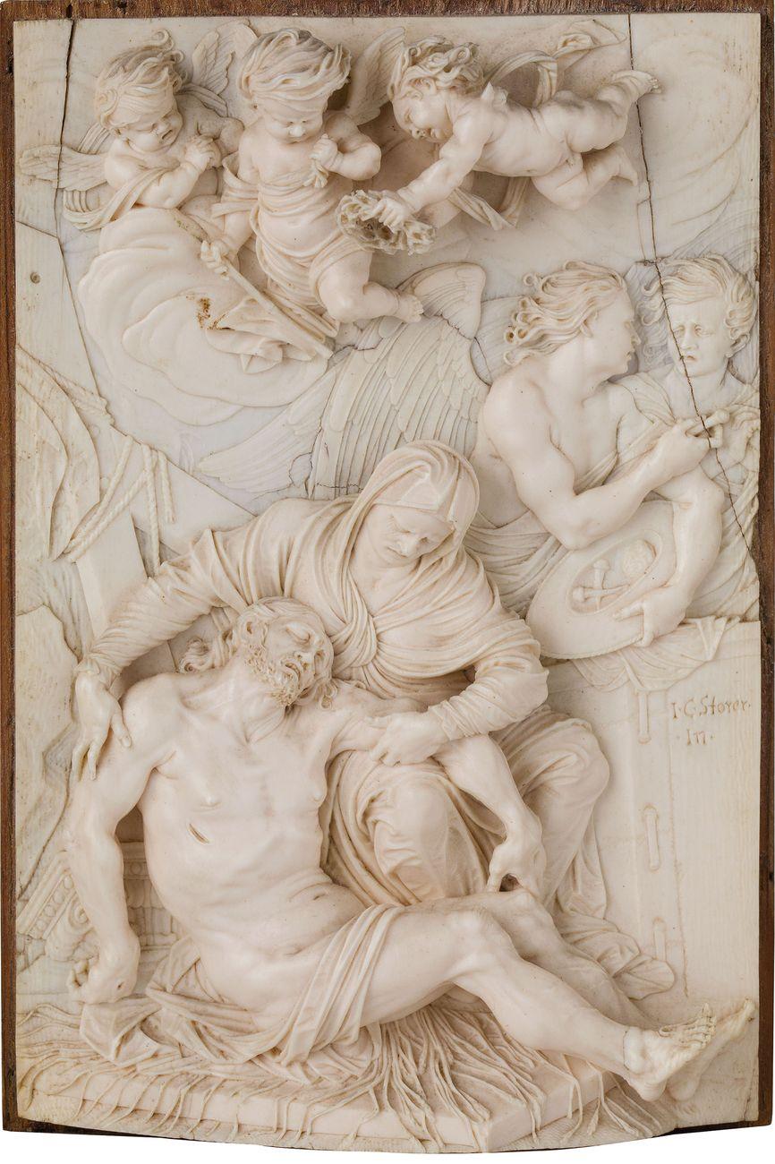 Christoph Daniel Schenck, Pietà, placca in avorio, aggiudicata a € 350.100 (World Record Price)
