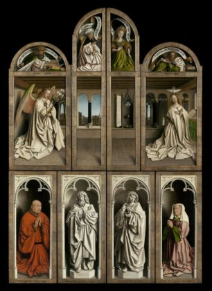 Jan and Hubert van Eyck_The Adoration of the Mystic Lamb, 1432_Saint Bavo's Cathedral, Ghent_© www.lukasweb.be Art in Flanders