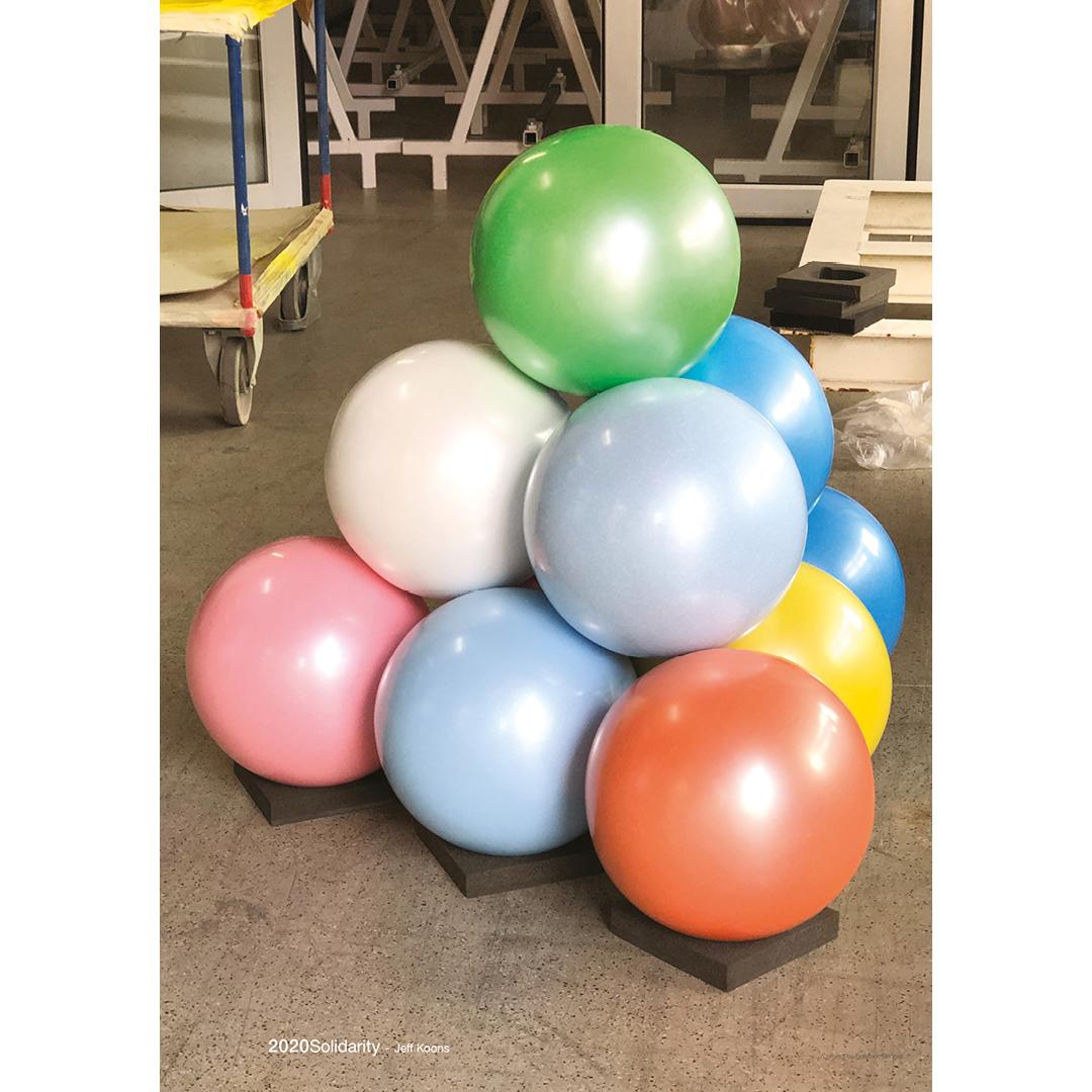 Jeff Koons per '2020solidarity' - Colored Balls (Pyramid), 2019