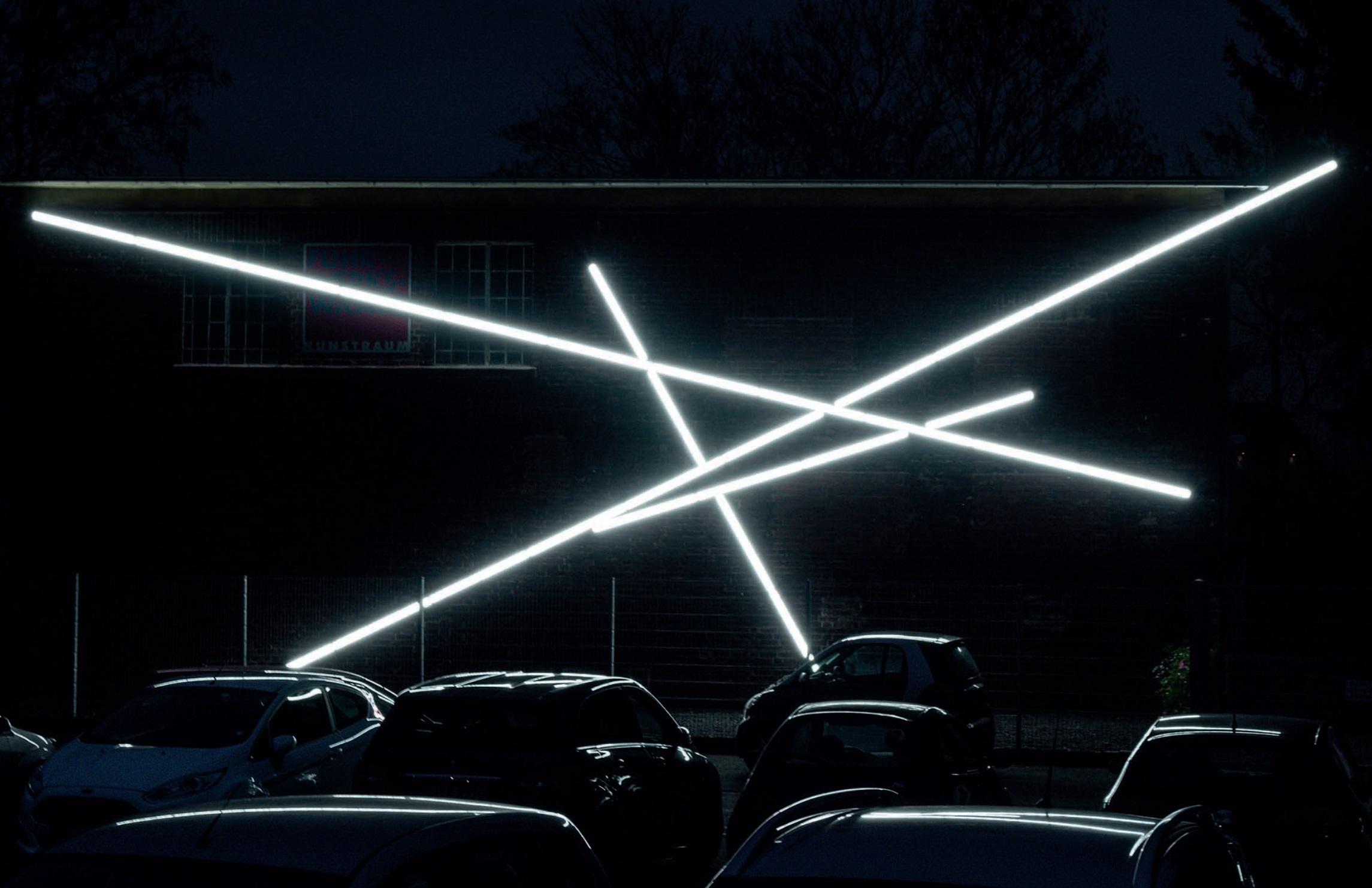 Kirstin Arndt, Ortsbezogene Lichtinstallation Site specific Light Installation, Köln 2016