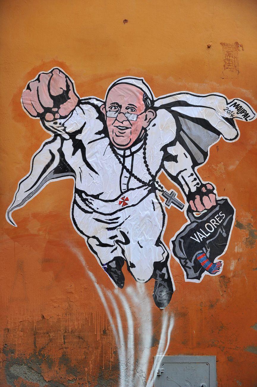 Maupal, Super Pope, Via Plauto, Roma, 2014