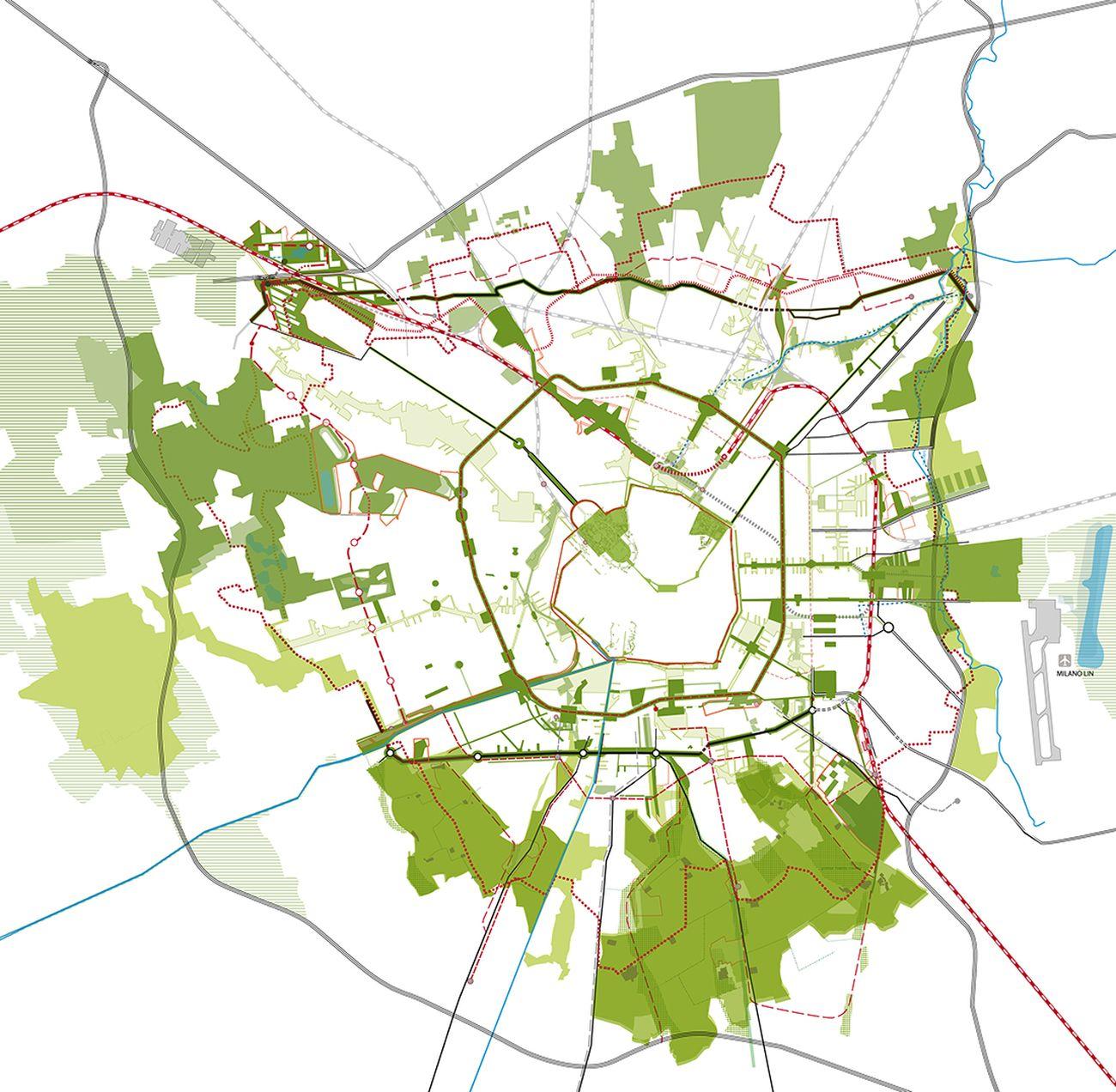 PGT Milano 2011. Decalogo per i quartieri, NIL - Nuclei di Identità locale, La struttura della città pubblica. Credits Metrogramma