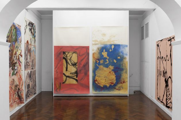 Pesce Khete. Sinossi (bon voyage). Installation view at Colli Independent Art Gallery, Roma 2020
