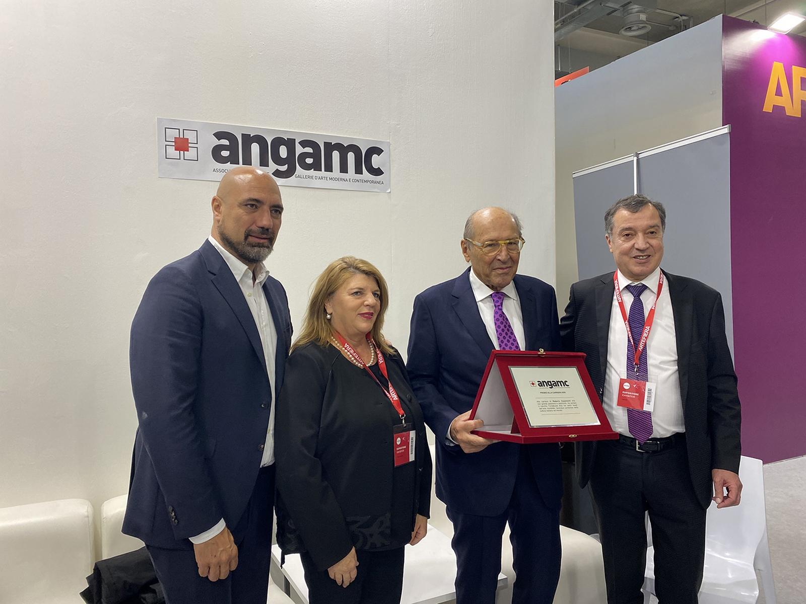 Premio ANGAMC 2020   Giovanni Bonelli, Paola Verrengia, Roberto Casamonti, Mauro Stefanini