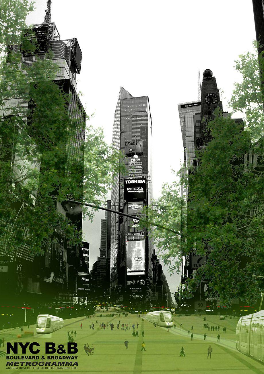 Progetto New York City Boulevard&Broadway. Credits Metrogramma
