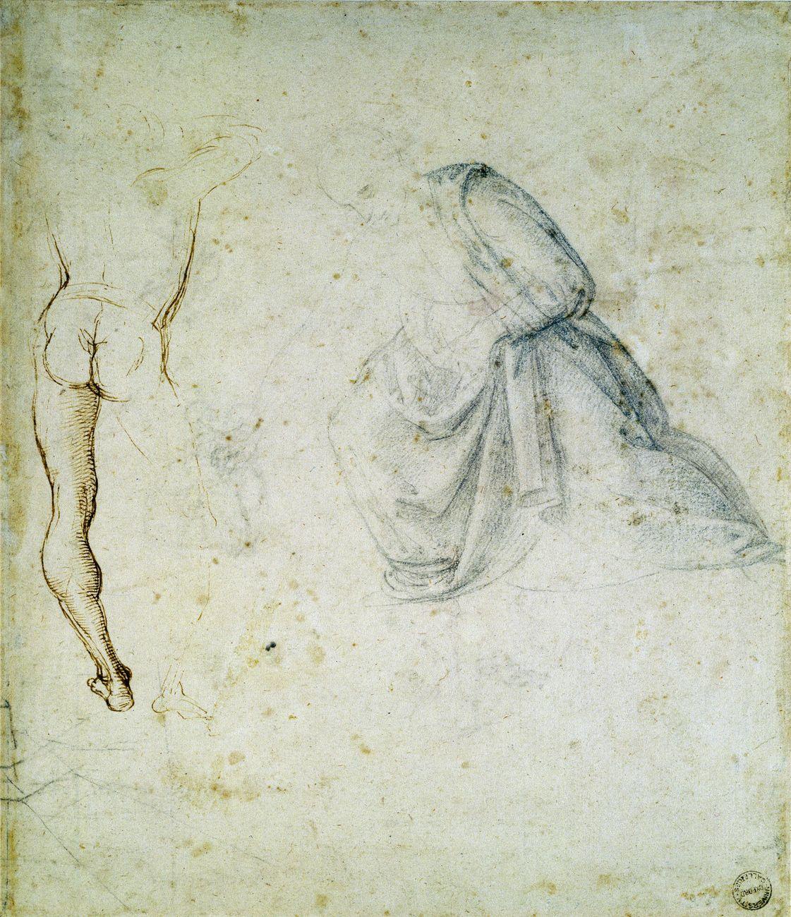 Raffaello, studio preparatorio Stendardo SS. Trinità, Oxford, Ashmolean Museum