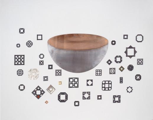 Tazza nel momento 1974-2004 Piombo, stagno, ferro, rame, argento, oro Dimensioni variabili Courtesy Galleria Christian Stein, Milano