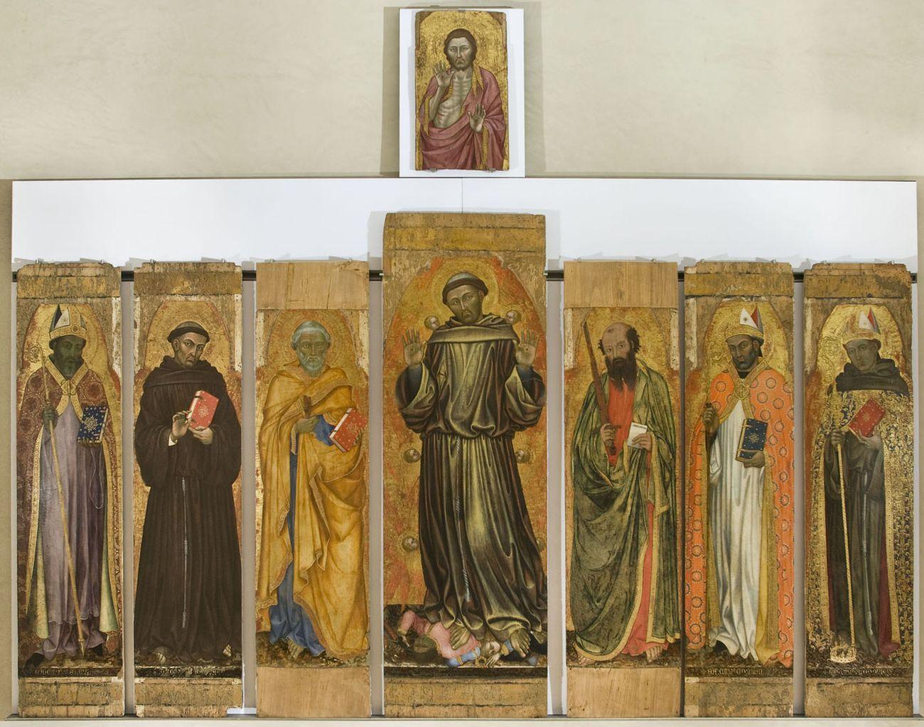 Taddeo di Bartolo, Polittico bifacciale di San Francesco al Prato, 1403. Galleria Nazionale dell'Umbria, Perugia