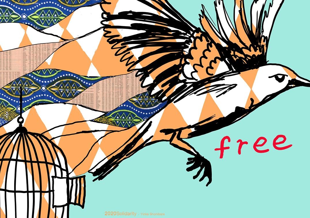 Yinka Shonibare per '2020solidarity' - Free, 2020