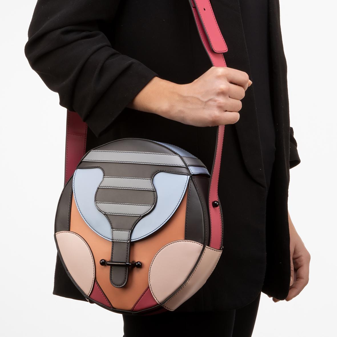 GRETA, borsa di pelle multicolore di Elena Salmistraro per Up To You Anthology