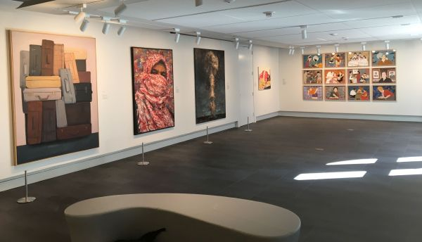 Arabicity|Ourouba, 2020, exhibition view. Gallery for Contemporary Middle Eastern Art. Photo Eric Hope