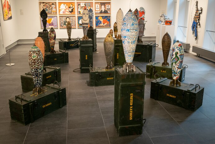 Arabicity|Ourouba, 2020, exhibition view. Courtesy Gallery for Contemporary Middle Eastern Art