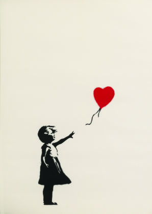 Banksy, Girl with Balloon 2004 2005, Collezione privata