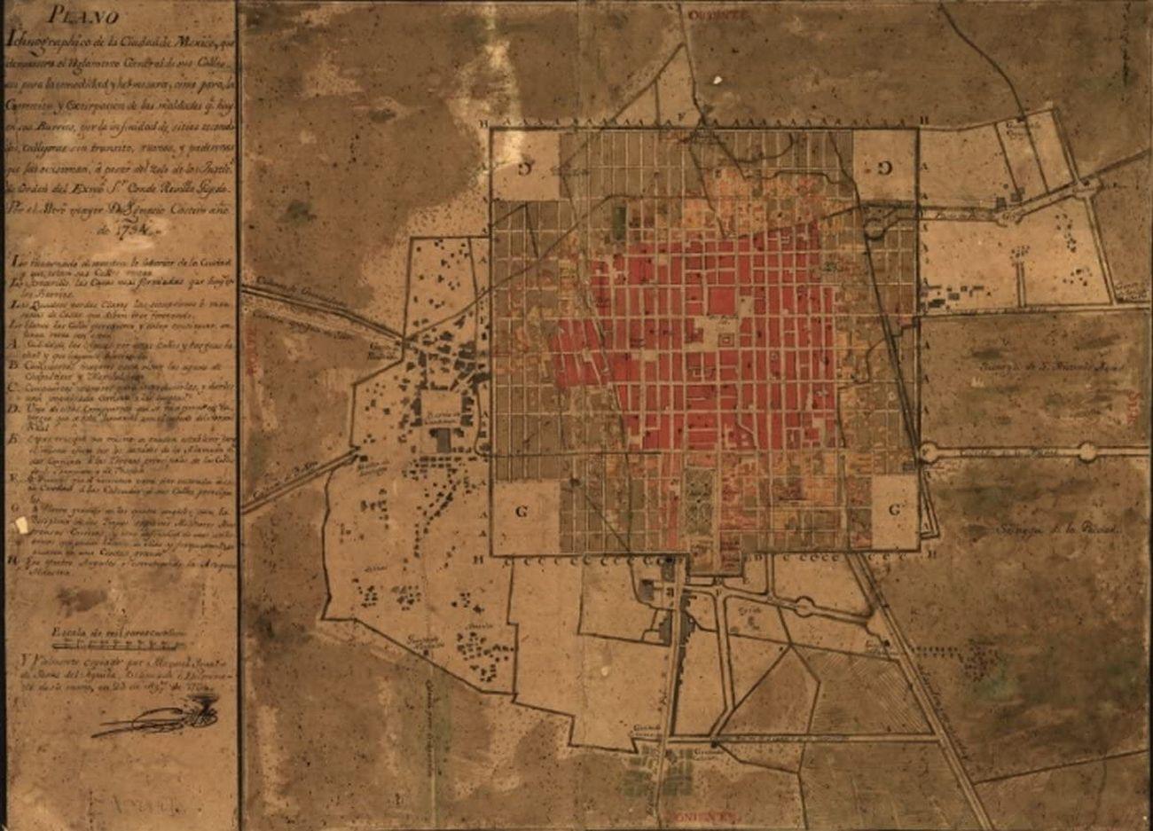 Città del Messico nel 1794