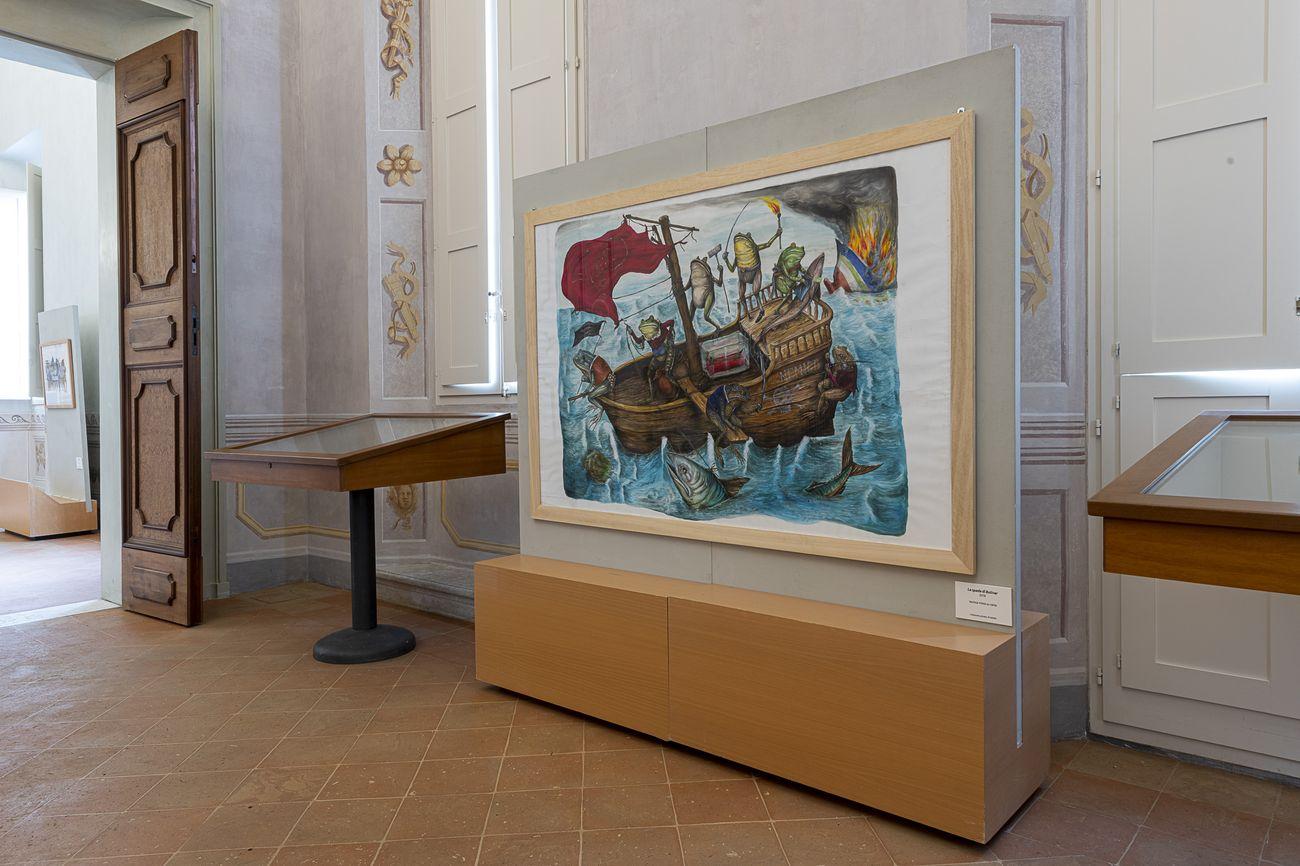 Ericailcane. Potente di fuoco e altri disegni. Installation view at Palazzo Rasponi dalle Teste, Ravenna 2020