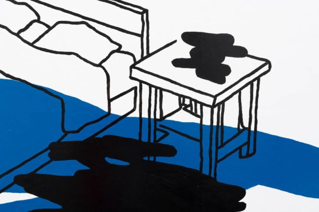 Federica Di Pietrantonio, my life as yours, 2020, detail, enamel on canvas, 190x290 cm, courtesy of the artist and The Gallery Apart Rome, photo by Giorgio Benni