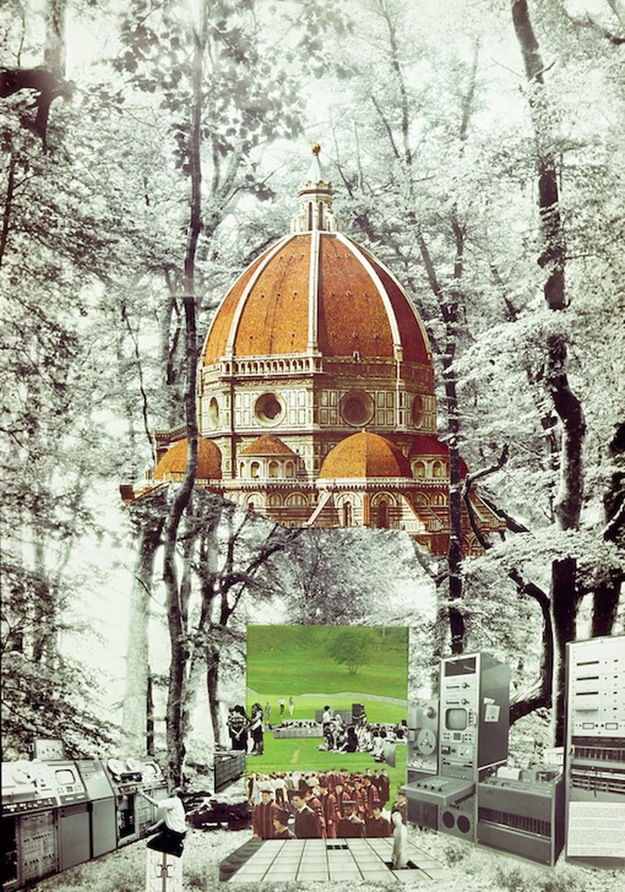 Gruppo 9999, Proposta di concorso per la Nuova Università di Firenze, 1971 (raccontato da From Outer Space). Courtesy Circolo del Design di Torino