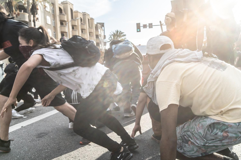 30 maggio 2020, scontri con la polizia a Beverly Blvd ©fabianocaputo