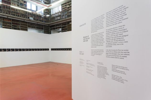 Mostra Fatma Bucak remains of what has not been said 2017